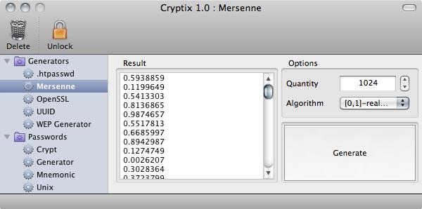 Cryptix 1.0.0 Mersenne