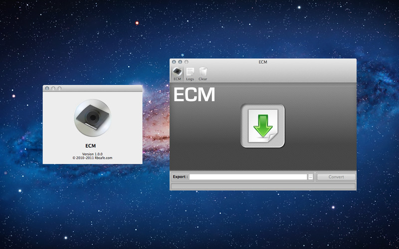 ECM screenshot